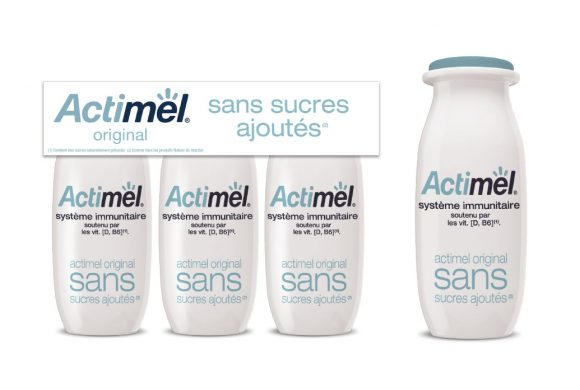 packaging Actimel sans Sucre